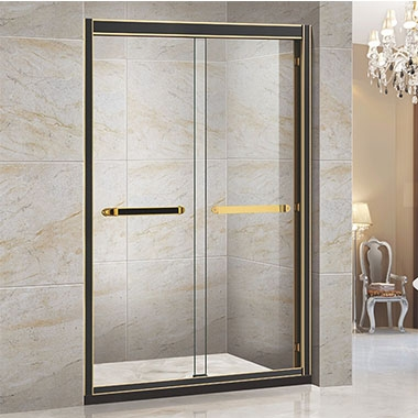 倾斜的隔板可以部分隐藏浴室隔板,同时营造出奢华的美感