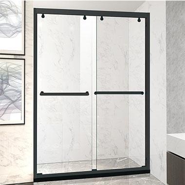 淋浴房的玻璃全是防爆玻璃,高宽比基础为两米